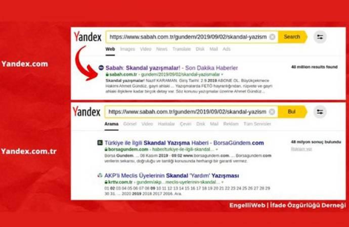 Türkiye'de arama motoru sonuçlarına da ''sansür'' geldi!