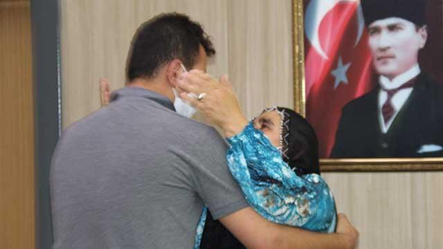 Mardin'de ikna çalışmaları sayesinde bir aile daha evladına kavuştu