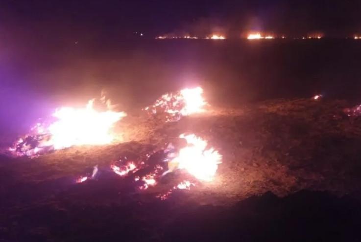 Bir ilimizde daha meteor paniği! Yangın çıktı!