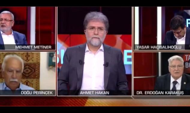Canlı yayında Ahmet Hakan'ın zor anları