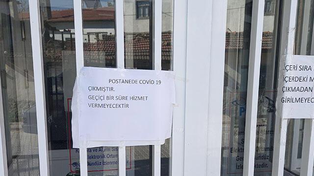 Eskişehir'de PTT şubesi koronavirüs nedeniyle kapatıldı