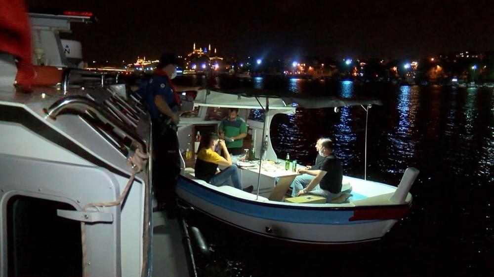 Teknede sosyal mesafesiz eğlenceye ceza yağdı