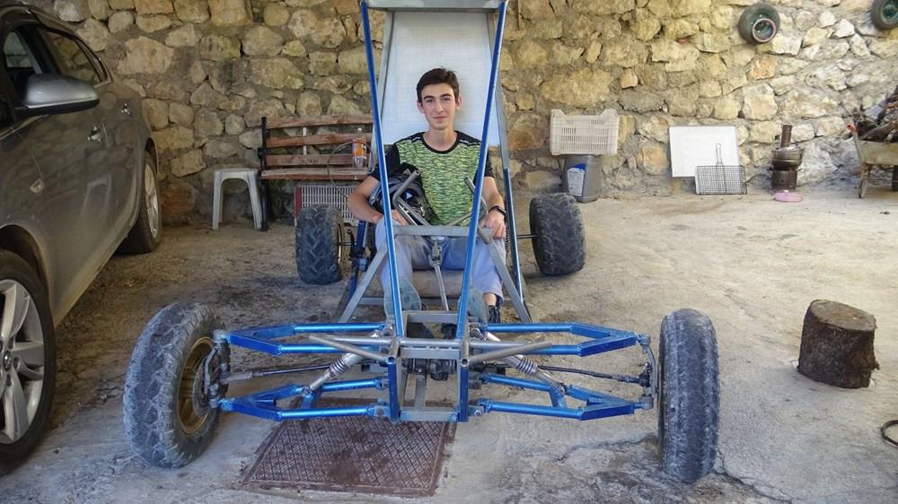 Karaman'da 18 yaşındaki genç ''buggy'' araba yaptı