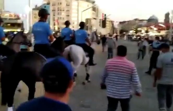 İstanbul Büyükşehir Belediyesi'nin atlı zabıtaları göreve hazır