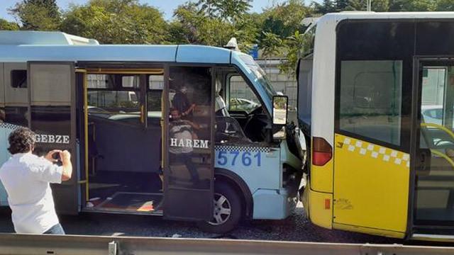 Yolcu minibüsüyle İETT otobüsü çarpıştı: 4 yaralı