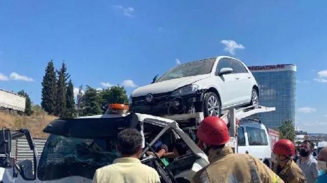Pendik'ye 5 araç birbirine girdi