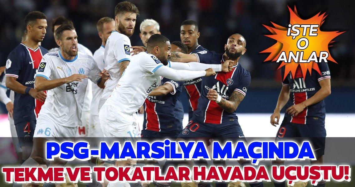 PSG - Marsilya maçında tam 5 kırmızı kart... - Resim: 1