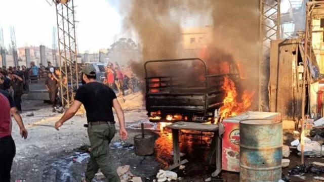 Afrin'de bomba yüklü araç patladı! Çok sayıda ölü ve yaralı var