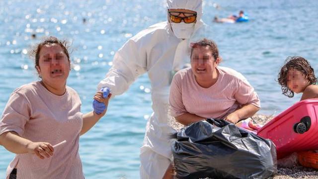 Plajda ''Ölmek istemiyorum'' diye bağıran kadın koronavirüslü çıktı