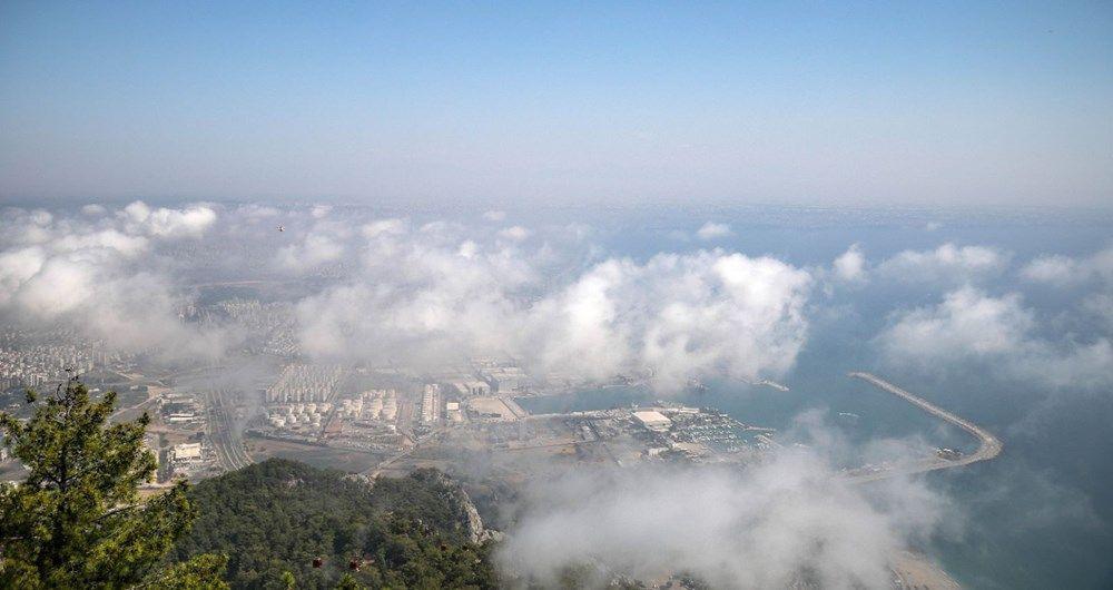Antalya'da nem bulutları gökyüzünü kapladı