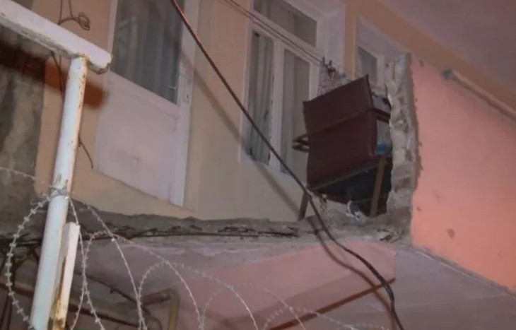 İstanbul'da balkon çöktü, 1 çocuk yaralandı!