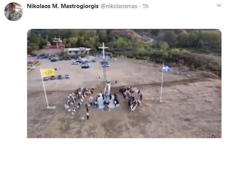 Meriç Nehri sınırına dikilen ''dev haç'' gerilim yarattı