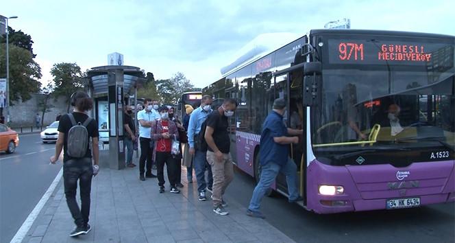 İstanbul'da kademeli mesai uygulamasının ilk gününde manzaralar