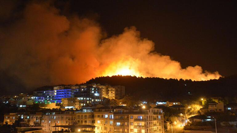 İzmir'de alevli gece! Ailesine kızıp, ormanı ateşe verdi!
