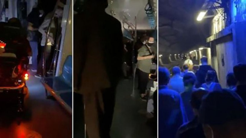 Marmaray'da kabus! Yolcular mahsur kaldı...