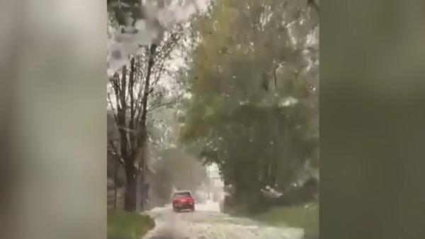 Eylül ayında kar yağdı