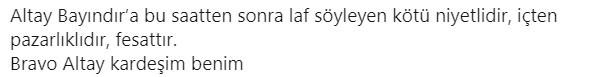 ''Altay Bayındır Neuer'den iyi!''