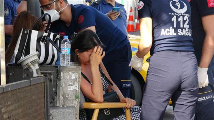 Şişli'de kaza yapan kadın sürücü şoka girdi
