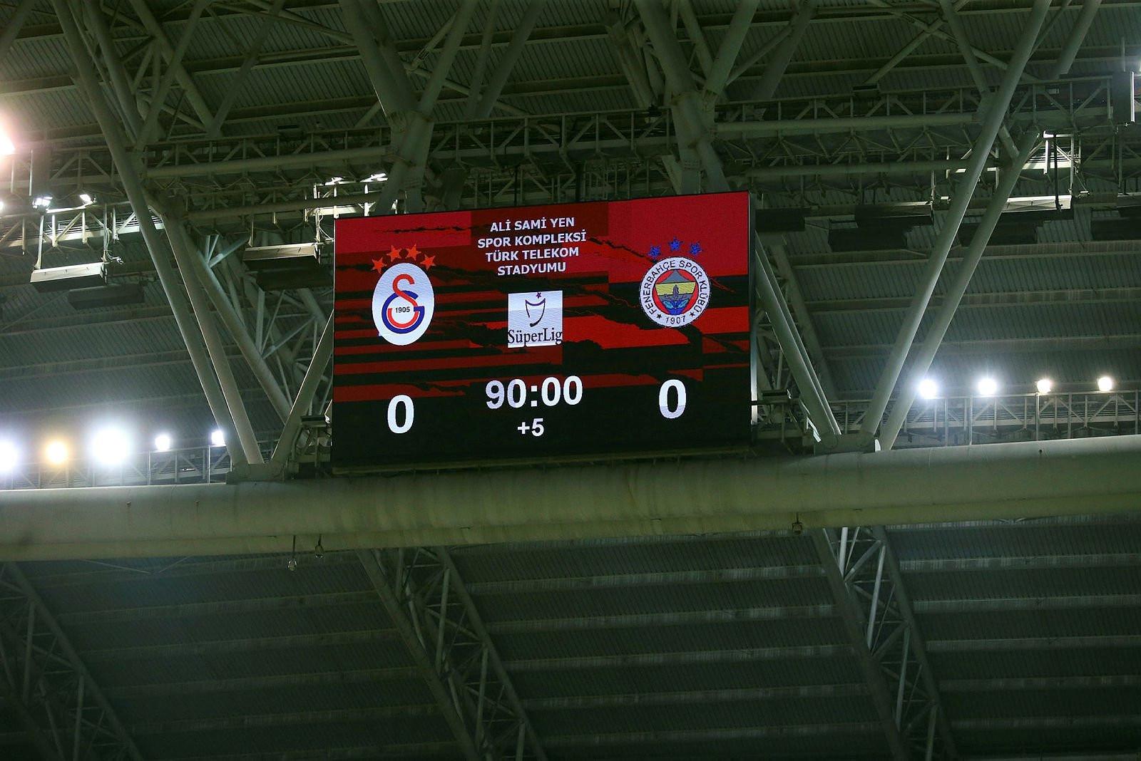 Galatasaray-Fenerbahçe derbisinde şok