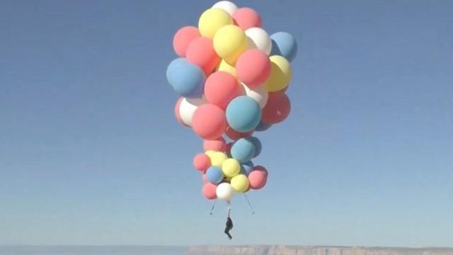 Nefes kesen deneme! Balonla 9 kilometre yükseldi