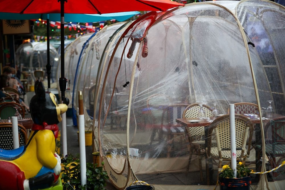 Restoranlarda yeni konsept: Sosyal mesafe balonu