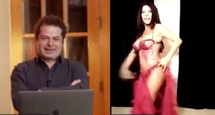 Cüneyt Özdemir canlı yayına dansöz çıkardı