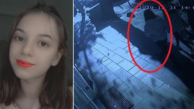 Genç kızın yorgun mermiyle yaralandığı anlar kamerada