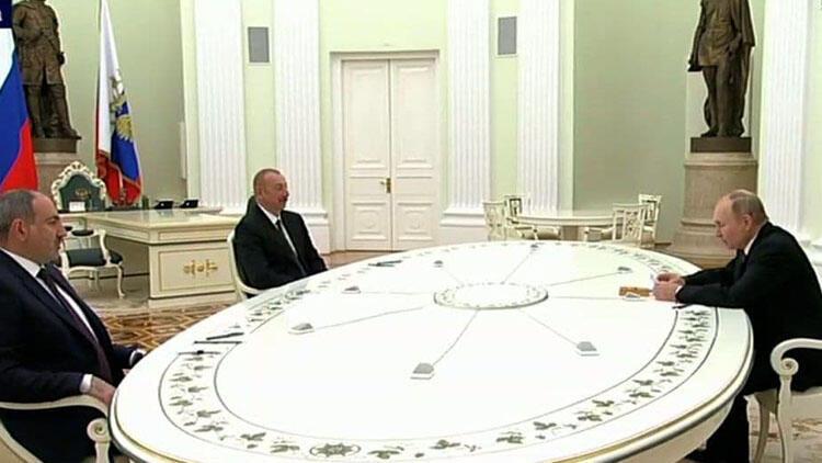 Moskova'da üçlü zirve! Liderler bir araya geldi: İşte ilk açıklamalar