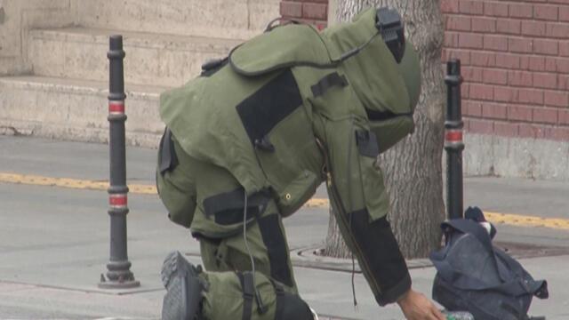 Konya'da şüpheli çanta panik yarattı