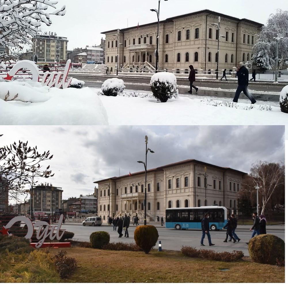 Kışın sert geçtiği Sivas'ta sıcaklık rekoru kırıldı