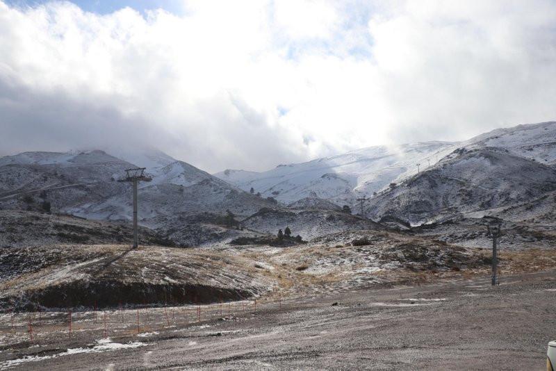 Ege'nin en büyük kayak merkezi bakın ne halde