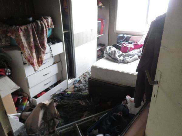 Genç kadının dehşeti yaşadığı o daire görüntülendi