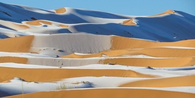 Bu şaşırtan görüntü Sahra Çölü'nde çekildi
