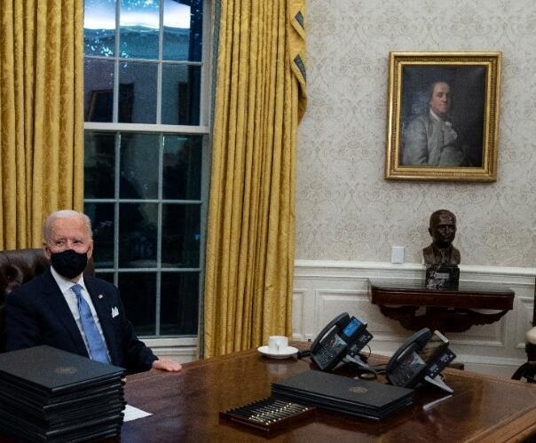 Biden'ın göreve gelmesi sonrası Oval Ofis'te dikkat çeken değişiklik - Resim: 3