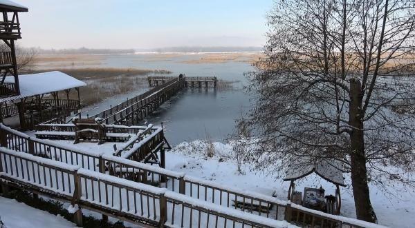 ''Kuş cenneti'' Efteni Gölü, buz cenneti oldu - Resim: 1