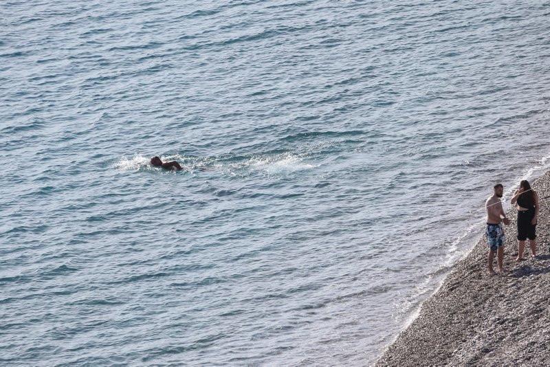 Antalya'da ocak ayında deniz keyfi - Resim: 1