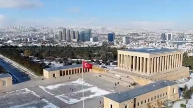 MSB Anıtkabir'in havadan çekilmiş görüntülerini paylaştı