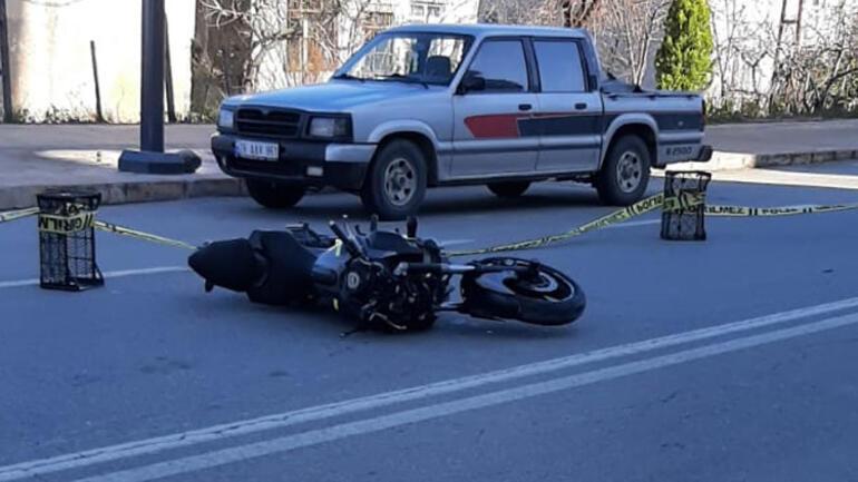 Hız tutkunu motosiklet sürücüsünün feci ölümü