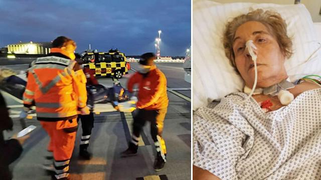 Almanya'da yanlış tedavi kurbanı oldu, ambulans uçakla getirildi