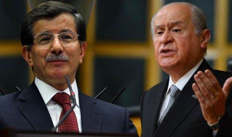 Davutoğlu: Bahçeli, Erdoğan'a hakaret ederken onu durduran bendim