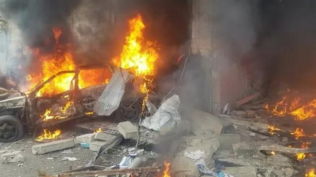 Suriye'de korkunç patlama: 10 ölü, 24 yaralı