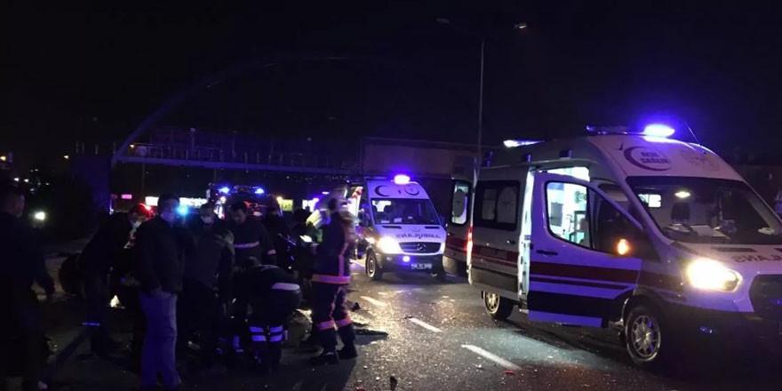 Ankara'da zincirleme kaza: 1 kişi öldü