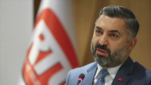 RTÜK Başkanı Şahin'den ''Çalışan Gazeteciler Günü'' mesajı