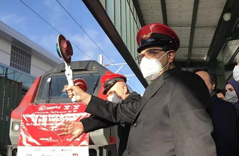 İhracat treni Gürcistan'a uğurlandı