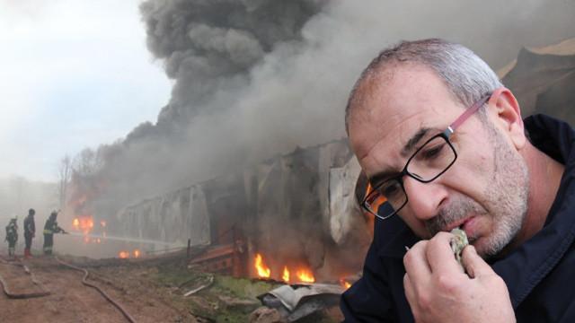 Tavuk çiftliğindeki yangında yürek yakan görüntü
