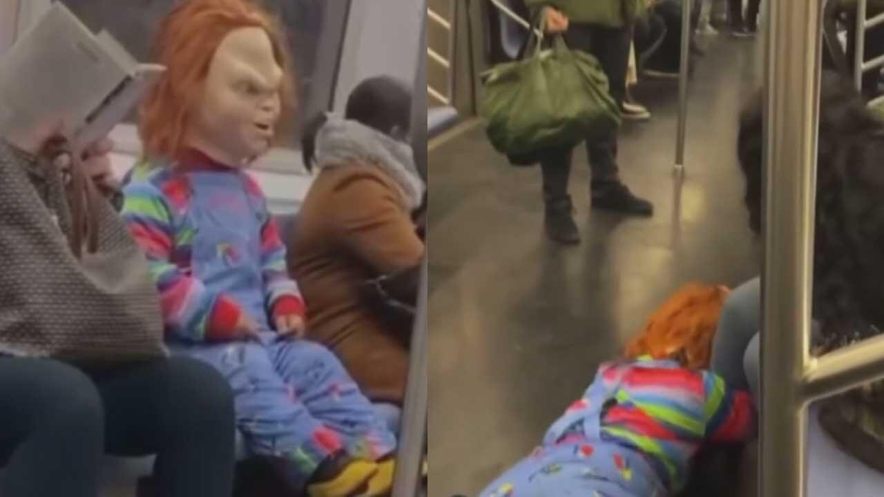 Metroda ''Chucky'' dehşeti! İnternette izlenme rekorları kırıyor