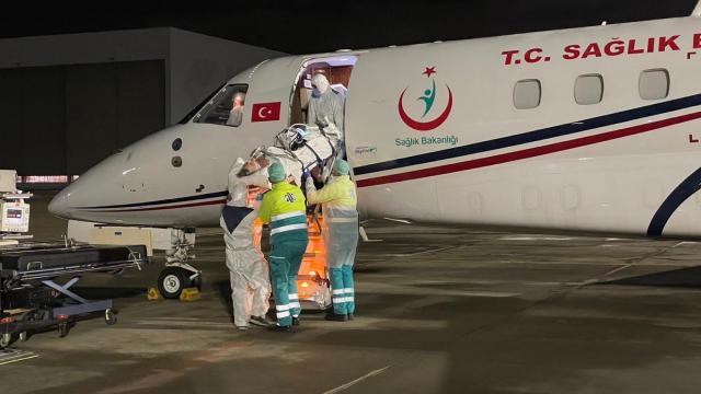Ambulans uçak o Türk vatandaşı için havalandı