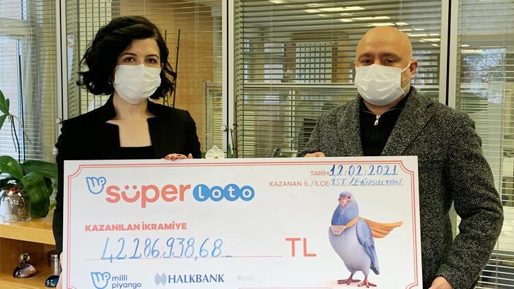 Lotodan 42 milyon TL kazanan talihli parasını aldı