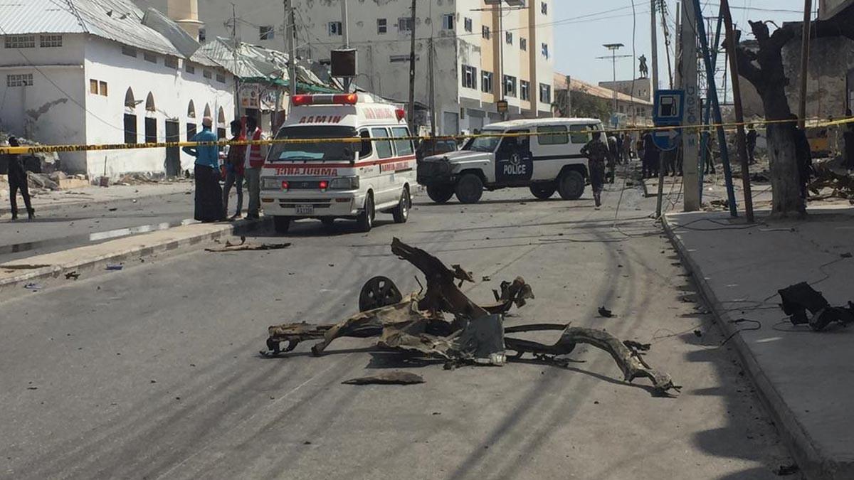 Somali'de parlamento önünde patlama
