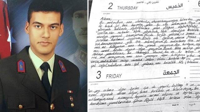 Gara şehidinin 2 yıl önce yazdığı mektup ortaya çıktı